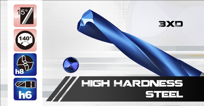 HD Carbide Drill For High Hardness Steel