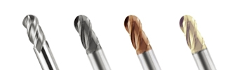 P-SSB/P-MSB/P-SB  Ball Nose End Mill - 4 Flutes