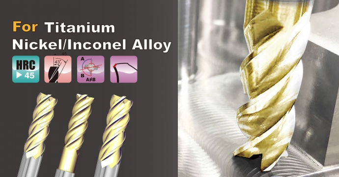 PVE1T Square End Mill  For Titanium  / Inconel Alloy