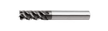 FHPS Short Flute Square End Mill - 4 Flutes